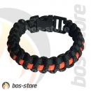 Feuerwehr Armband Thin Red Line, Paracord